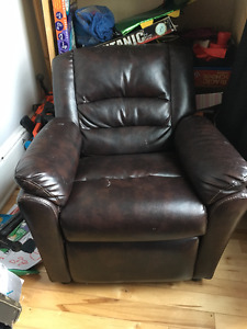 Child's Leather Recliner