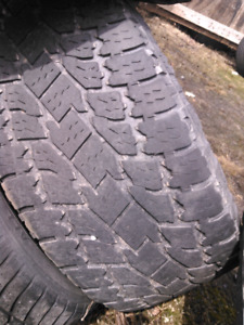Tires for sale 4 tires with about 1/4 tread