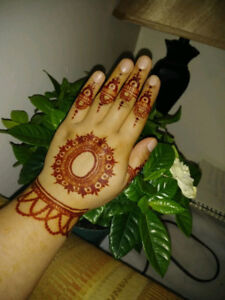 Henna Tattoos, Make-up, Treading, candle decoratrions