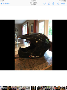 Youth full face bicycle helmet