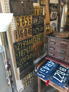 CURRENT INVENTORY OF VINTAGE ONTARIO LICENSE PLATES 1923 TO 1962