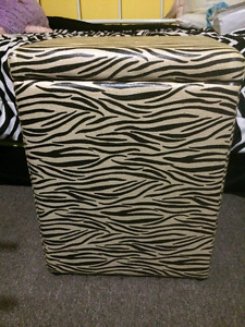 Zebra laundry hamper