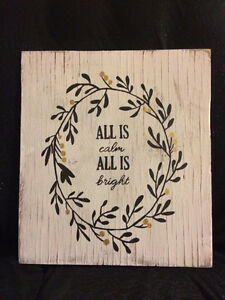 40% off Handpainted Reclaimed Wood Christmas Decor