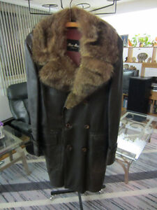 Real Leather winter coat by MacMor - $40 West Island Greater Montréal image 1