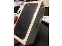 Sealed Iphone 7 128g matt black