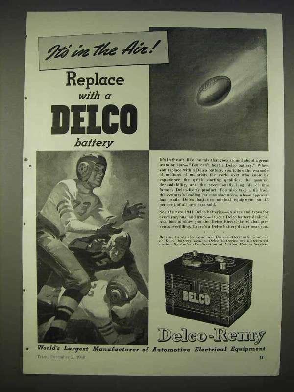 1940 Delco Battery Ad - It