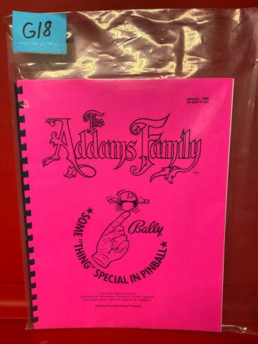 The Addams Family Bally Pinball Instruction/Operation/Service/Repair Manual G18