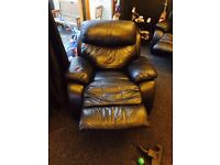 3 and and single recliner couch sofa.