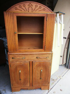 Vintage Wood China Cabinet $300.00
