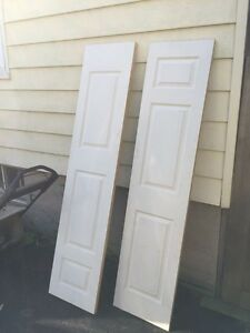 2 18 inch interior doors never used or painted