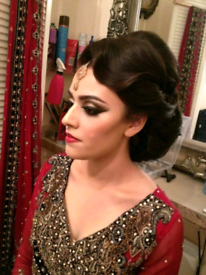 Professional fully qualified bridal hair and makeup artist