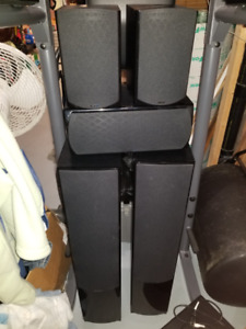 5.1 Energy Speaker Set CF-30 (tower x2), CB-5 (bookcase x2),  et