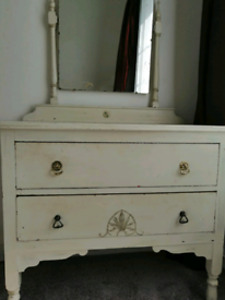 FREE Local Delivery Vintage Shabby Chic Dressing Table Chester Drawers
