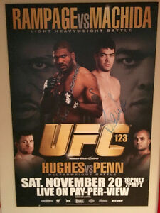 UFC 123 Autographed Fight Poster-mounted