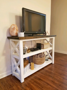 Handmade Rustic console table/tv stand