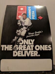1980's Wayne Gretzky Domino's Pizza ad poster Great One