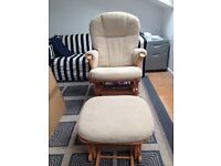 Mamas & papas dutalier glider nursing chair & foot stall