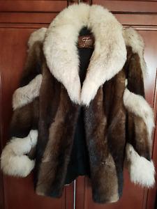 Silver Fox  and Muskrat Fur Coat