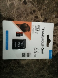 SEALED TeamGroup 80 mb/s micro sd card, 64 GB Lifetime WARRANTY