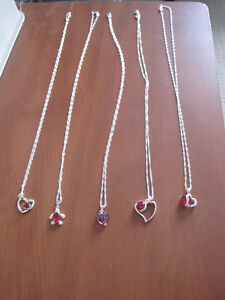NEW Sterling silver necklaces with pendant