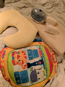 Baby items, changing pad, feeding pillow, bottle sterilizer