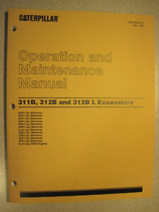 Caterpillar CAT-311B,312B & 312B-L Operation/Maintenance Manual