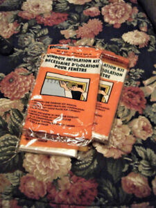 Window Insulation Kit x 4 For $5.00 Total