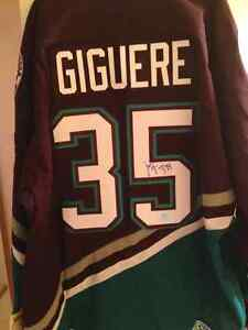 J.S. Giguere Signed Mighty Ducks Jersey w/COA
