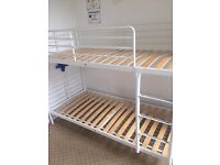 IKEA Metal Bunk Bed in White used