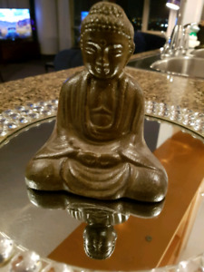 Cast Iron Buddha Meditation Statue Sculpture