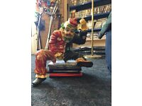 Freaky display clown