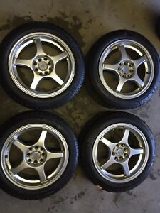 Kit d'hiver 195/55/16 Michelin x-ice avec Mags 4x100 /4x114.3