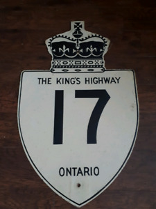 Authentic Highway Sign - The King's Highway