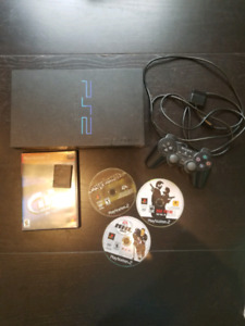 Sony PlayStation 2 with Games and Memory Card