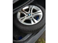 Bmw alloys and tyers
