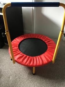 kids mini trampoline with handle