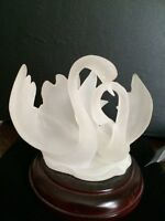 Beautiful frosted swan sculpture