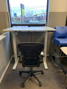 Height Adjustable Desk and Aeron Chair - Combo Deal