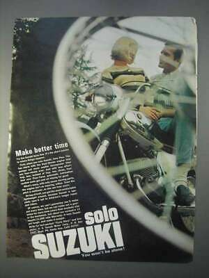 1966 Suzuki Motorcycle Ad - Make Better Time