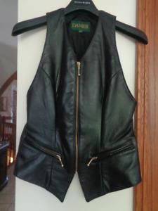 Danier Genuine Leather Vest women's size XS/S