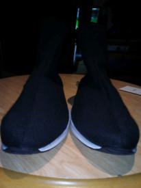 Womans Black sock shoes