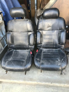 Powered Leather Bucket Seats For Sale / Plus Steering Wheel