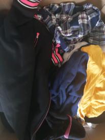 Box of women's clothing