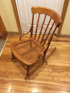 antique maple rocking chair