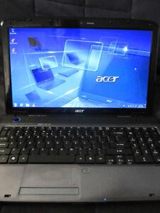 Acer Laptop Windows 7 /Office/4gb Ram/250gb Hdd