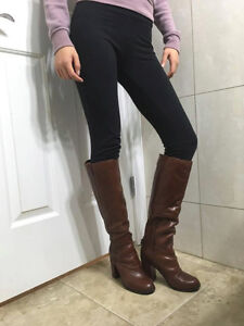 Aldo Tall Brown Leather Boots