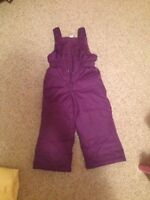 Toddler snow pants size 2