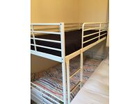 IKEA metal frame bunk bed.