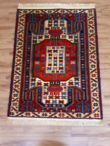 Brand new handmade nomad Persian rug wood+silk