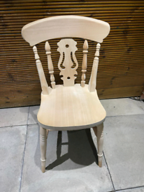 4x antique wooden chairs with anti scratch felt